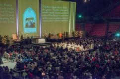 Gemeinsames Gebet in der Jakobshalle
