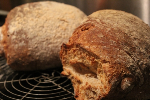 Frisches Brot zum Frühstück