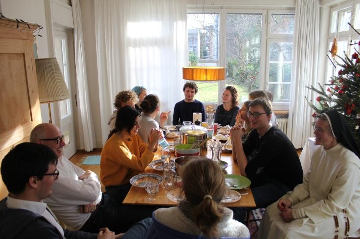 Zum Abschied ein leckeres Mittagessen mit der Gastfamilie