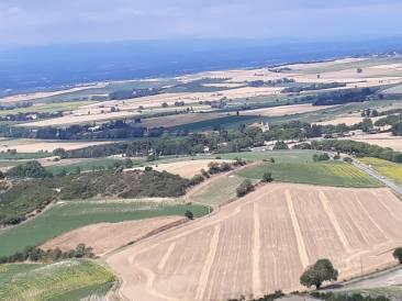 Sicht von Fanjeaux nach Prouilhe