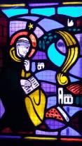 Die Vision des hl. Dominikus auf dem Seignadou (Fanjeaux): Eine Feuerkugel liess sich auf den Ort Prouilhe nieder und zeigte ihm den Ort, wo er ein Frauenkloster errichten wird.