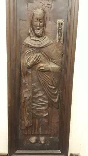 Der hl. Dominikus (Türe zum Haus des Dominikus in Fanjeaux)
